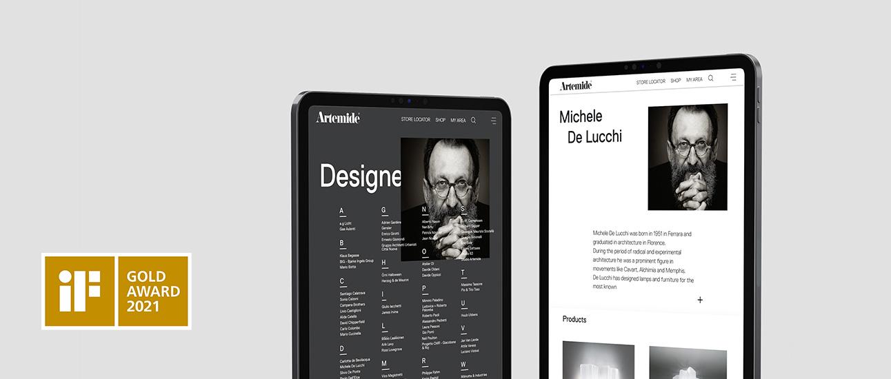 Artemide website redesign